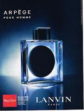 PUBLICITE ADVERTISING 104  2005  LANVIN  parfum  ARPEGE pour homme