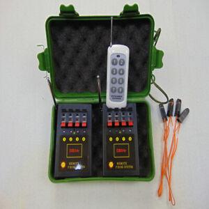 DMX 8 Cues Fireworks Firing System Radio Fire Receiver Transmitt Special Effects