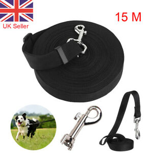 Training Lead 50ft 15M Pet Dog Puppy Leash Collar Harness Long Line Strong Rope