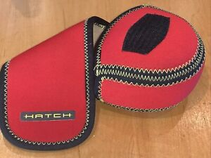 Hatch, Neoprene Fishing Reel Case, Protective Pouch, Fleece Lined, Great Cond