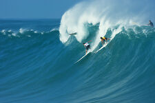 """Mark Healey and Rcj from the 2009 Eddie Aikau Event 8x12"""" Photo by Pete Frieden"""