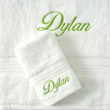 Personalised baby gift, embroidered name towel, towel face washer set,