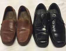 Lot of Two Pairs Men's casual Leather Used shoes Size12,EUr 45,Dockers/George