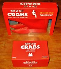 YOU'VE GOT CRABS + IMITATION CRAB EXPANSION Party Game By EXPLODING KITTENS NEW!