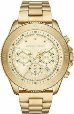 Michael Kors Theroux Chronograph Gold Tone Stainless Watch MK8663 New with Tags