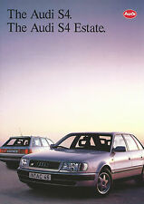 Audi S4 Saloon & Estate UK Brochure 1992 36 Pages In Mint Condition English