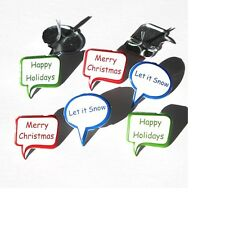 Brads - Bulk - Sayings Merry christmas let it snow happy holidays - pk 15