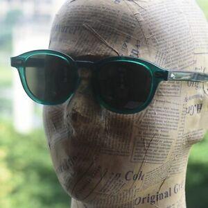 Vintage G15 Polarized Sunglasses Artist  Green Acetate glasses green lens LARGE