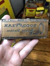 Vintage Good Year Tires Rare Printing Plate Block Letterpress Inked Stamp