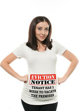 Pregnancy T Shirt Baby Shower Idea Funny Maternity T shirt Eviction Notice Tee
