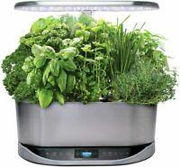 AeroGarden Bounty Elite Stainless Steel with gourmet Herbs Seed Pod Kit