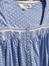 NEW Eileen West Blue Jersey Cotton Cap Sleeve Gown 2X