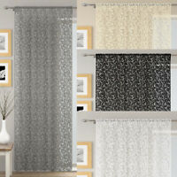 WILLOW Lace Sheer Unlined Voile Net Curtain Ready Made Slot Top Single Panel