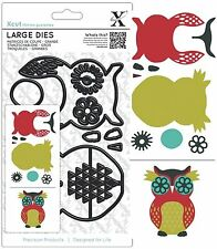 DOCRAFTS XCUT LARGE DIE SET OWL SET CUTTING DIES NEW UNIVERSAL FIT
