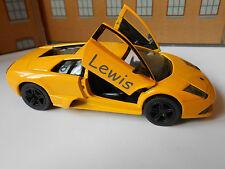 LAMBORGHINI MURCIELAGO Toy Car MODEL PERSONALISED NAME boy dad birthday gift NEW