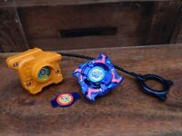 Beyblade Dragoon Storm Phantom Force w/ Ripcord and Launcher - Hasbro 2002