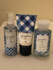 Bath & Body Works GINGHAM Mini Mist + Body Lotion + Body Wash 3 oz NEW