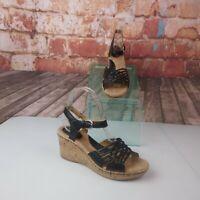 boc Espidrille Wedge Sandals Black 7