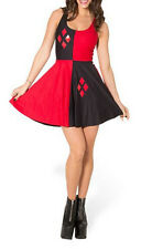 Women Casual Digital Pleated dress Harley Quinn reversible skateboard clothing