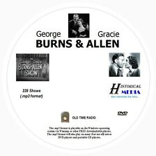 BURNS AND ALLEN SHOW - 228 Shows Old Time Radio In MP3 Format OTR On 1 DVD