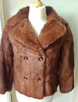 Vintage Real Fur Jacket Ladies Womens Size 10 Lovely!