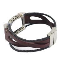 Ersatz Leder Armband Band Riemen Uhrenarmband Für Fitbit Charge 3