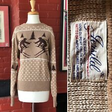 Vintage 1960s 1950s Jersild Knit Sweater Sweatshirt Ski Design
