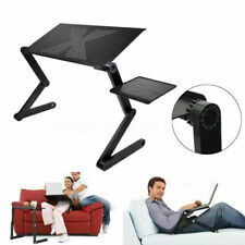 DIY*Angle Adjustable Notebook laptop Desk Aluminum Table Stand Bed Mouse Tray