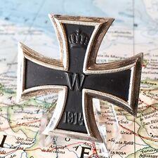 WWI GERMAN 1ST CLASS IRON CROSS MEDAL 1914 800 SILVER PIN-BACK EK1 WW1