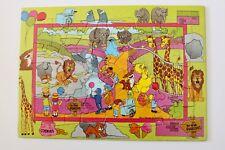 Vintage Sesame Street Puzzle - 35 Piece Tray Puzzle - Zoo Puzzle (C) 1992 -  GVC