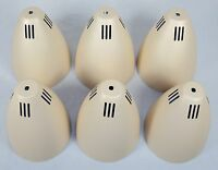 """Set of Six Beige 6"""" Metal Cone Shades ~ For Desk Lamp Or Tension Pole Torchier"""