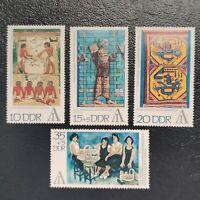 Alemania Oriental año 1972 Exposicion sellos R.D.A  Nº 1471 al 1474