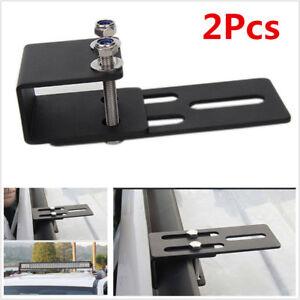 2Pcs Metal Car Roof Rack Light Bracket For LED Light Bar Work Light 4x4 4WD SUV