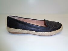 Sofft Size 6 M MALILA Black Leather Espadrille Flats Loafers New Womens Shoes