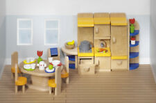 Puppenhausmöbel KÜCHE modern Holz Puppenhaus Puppenstube Puppenküche Puppenmöbel