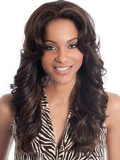 100% Echthaar Perücken Lang Dunkelbraun Gewellt Perücke Damen Menschliches Haar