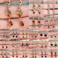 Vintage 925 Argent Bijoux Femmes Owl Ruby engagement Drop Dangle Boucle d/'oreille cadeau