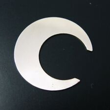 Sterling Silver Crescent Moon Blank- Charm-Stamping-Blank-24 Ga-25mm