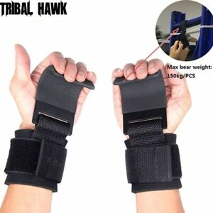Weight Lifting Grips Straps Gym Wrist Training Gloves Bar Support Workout Padded