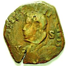 """Regno di Napoli Filippo IV 1621-1655 - 1 Grano con Stemma """"lati curvi"""" 1633 RARA"""