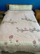 Pottery Barn Kids Pink Brown/Gray Penelope Twin Bed Quilt