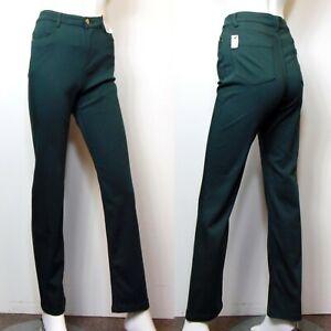 PER UNA Roma Rise STRAIGHT Leg JEANS ~ Size 14 Reg ~ FERN GREEN (rrp £35)