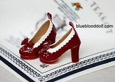 1/3 bjd SD13 SD16 girl doll dark red color high-heel shoes dollfie dream ship US