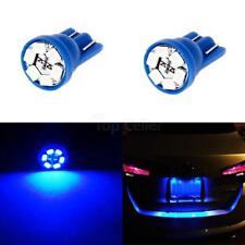 2pcs T10 194 Wedge Blue LED Lamp Bulbs for License Frame Tag Number Plate Light