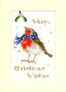 Bothy Threads Warm WishesCounted Cross Stitch Christmas Card Kit by Hannah Dale