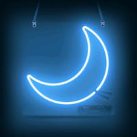 """10""""x10""""Blue Moon Neon Sign Light Beer Bar Pub Wall Decor Nightlight for Bedroom"""