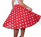 Ladies Girls Women 50's Style Polka Dot RockNRoll Full Circular Skirt&Scarf