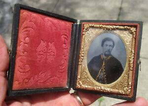 Tintype of Union Cavalryman in Full Case