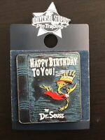 New Universal Studios Dr. Seuss Happy Birthday To You Book Pin