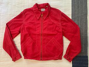 LVC LEVI'S VINTAGE CLOTHING CLIMATE SEALED RED JACKET SZ M